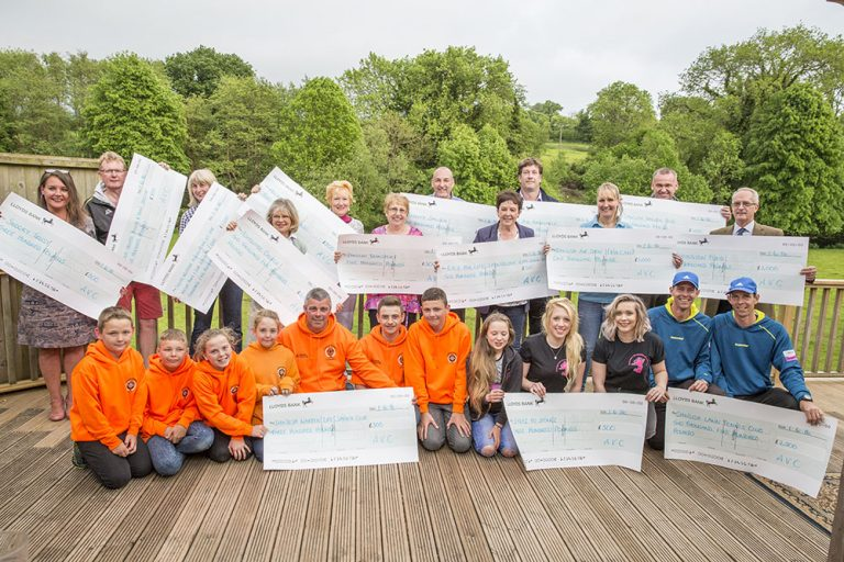 Ashcombe Village Club Charity Cheques 2016