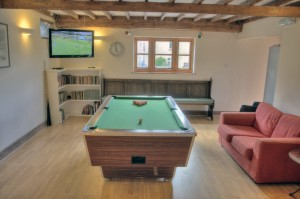 Games Room at Woodhouse Farm