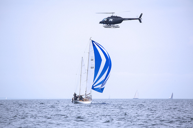 Yacht Racing off the Devon Coast