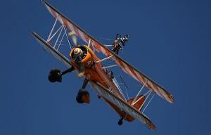 Wing walkers at the Dawlish Air Show