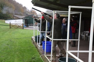 Clay pigeon shooting at Ashcombe Adventure Centre
