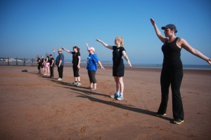 Boot camp on Dawlish Warren beach