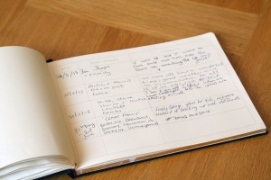 Visitors book at our cottages