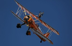 Wing walkers at the Dawlish Air Show
