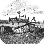 Shirley Smith - Woodcuts at Art Ashcombe